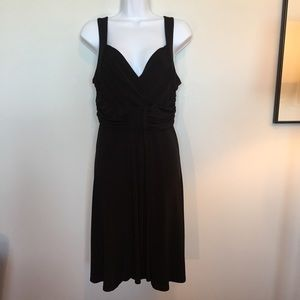 Cleo petites black straps sleeveless fitted dress